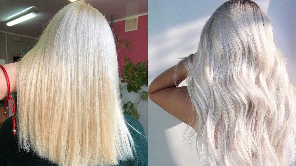 Осветлённые и обесцвеченные волосы.