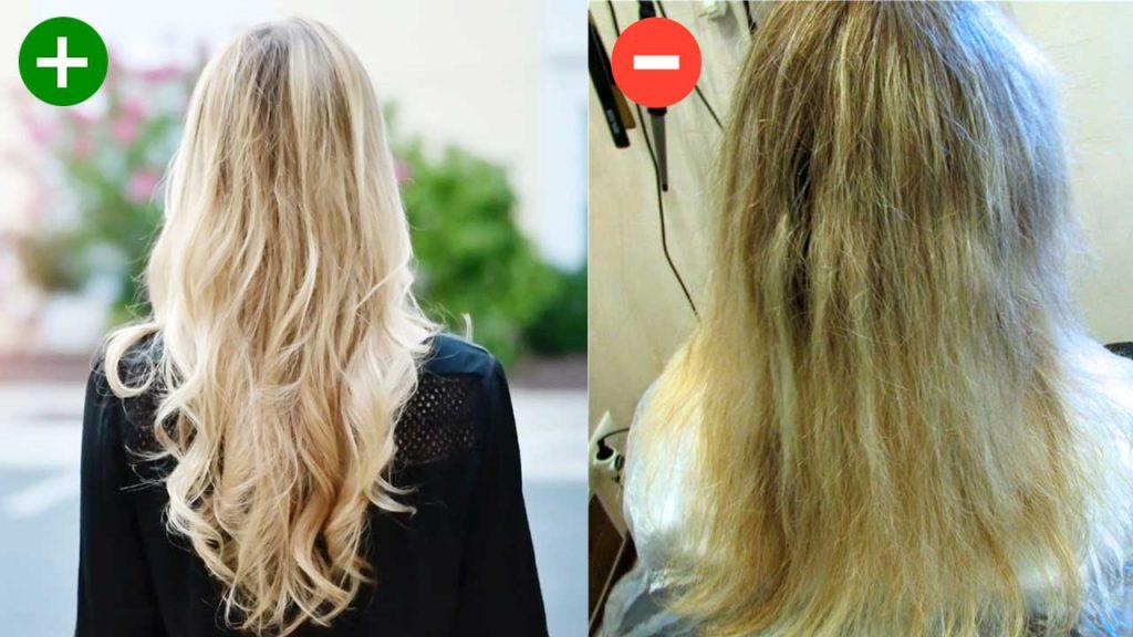 Преимущества и недостатки осветления волос